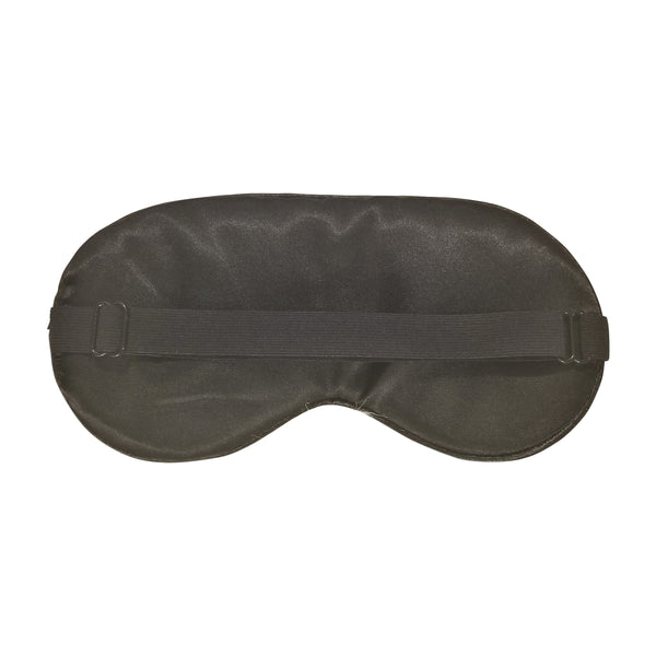 Soft Silky Super Smooth Black Satin Eye Mask Blindfold for Sleeping with Adjustable Strap (2 Pieces)