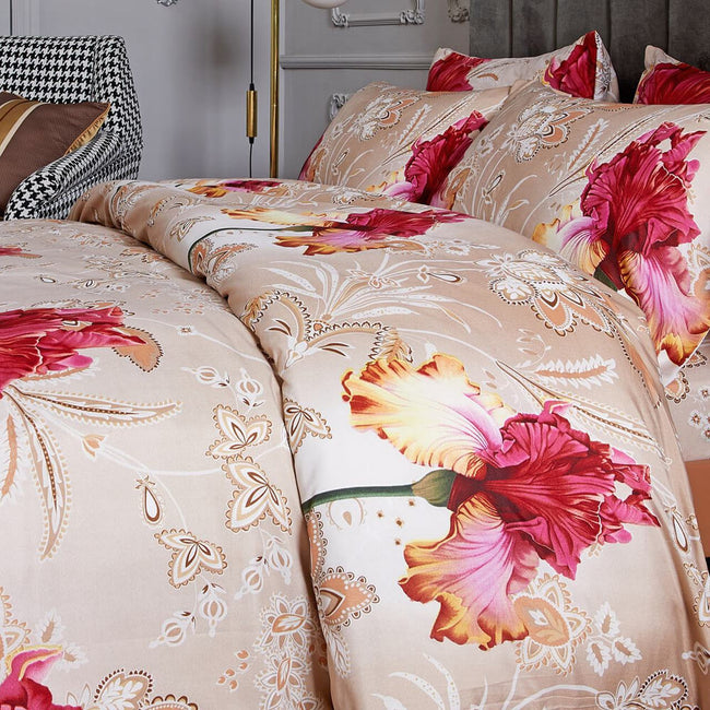 Dolce Mela Orchid Sateen Luxury Queen & King Duvet Cover Reversible Design Bedroom Bedding Sets - My Bedding Obsession