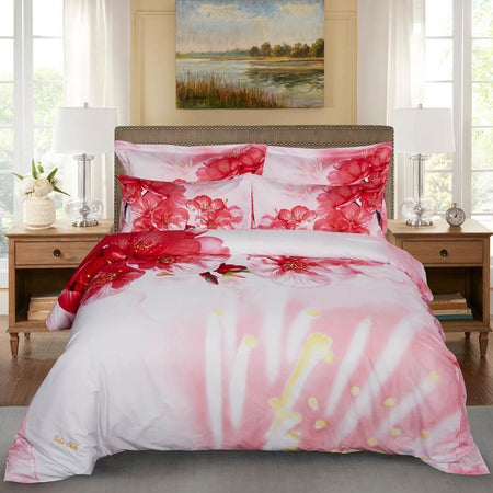 Dolce Mela Vienna  Cotton Luxury Queen & King Duvet Cover Reversible Design Bedroom Bedding Sets