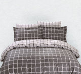 Dolce Mela Trento 100% Cotton Luxury Queen Duvet Cover Reversible Design Bedroom Bedding Set - My Bedding Obsession