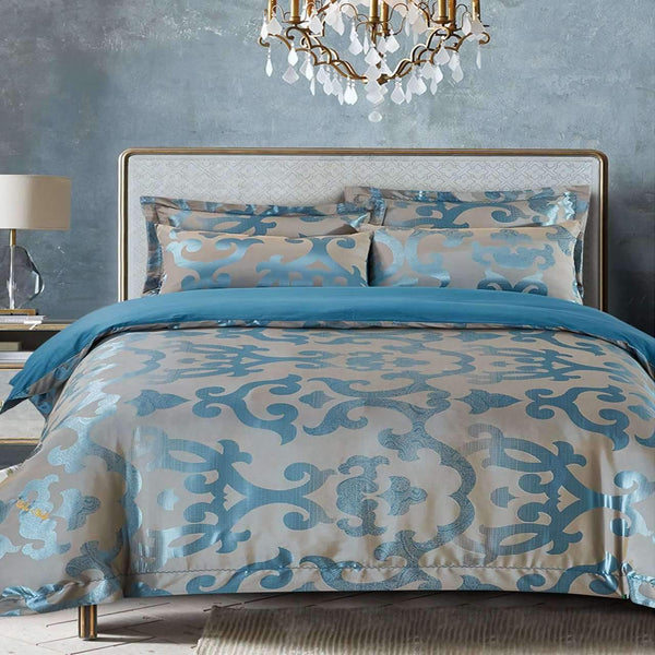 Dolce Mela Venice Cotton Luxury Queen & King Duvet Cover Reversible Design Bedroom Bedding Sets - My Bedding Obsession