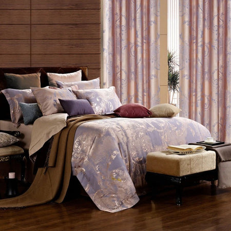 Dolce Mela Zest Microfiber Cotton Luxury King Duvet Cover Reversible Design Bedroom Bedding Set