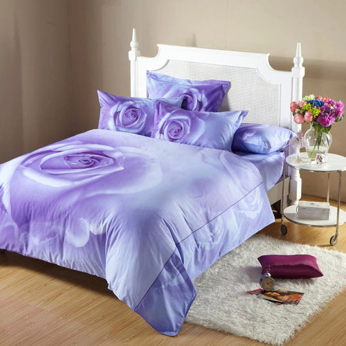 Dolce Mela Midnight Rose 100% Cotton Luxury King Duvet Cover Reversible Design Bedroom Bedding Set - My Bedding Obsession