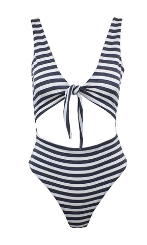 La Jolla Sequin White Geometric Pattern Spaghetti Strap Plunge V Neck Cut Out Sides Brazilian One Piece Monokini Swimsuit