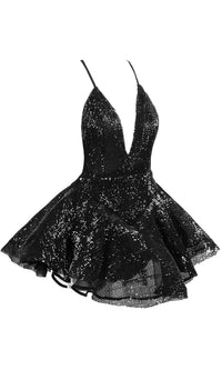 Stealing Attention Sequin Ballet Sleeveless Spaghetti Strap Plunge V Neck Mini Dress Romper Playsuit - Sold Out