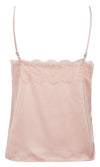 Maybe Later Pink Sleeveless Spaghetti Strap V Neck Lace Trim Camisole Tank Top - Sold Out