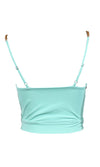 Dreams Come True Chain Spaghetti Strap Bustier Sweetheart Pastel Tie Front Bow Crop Top