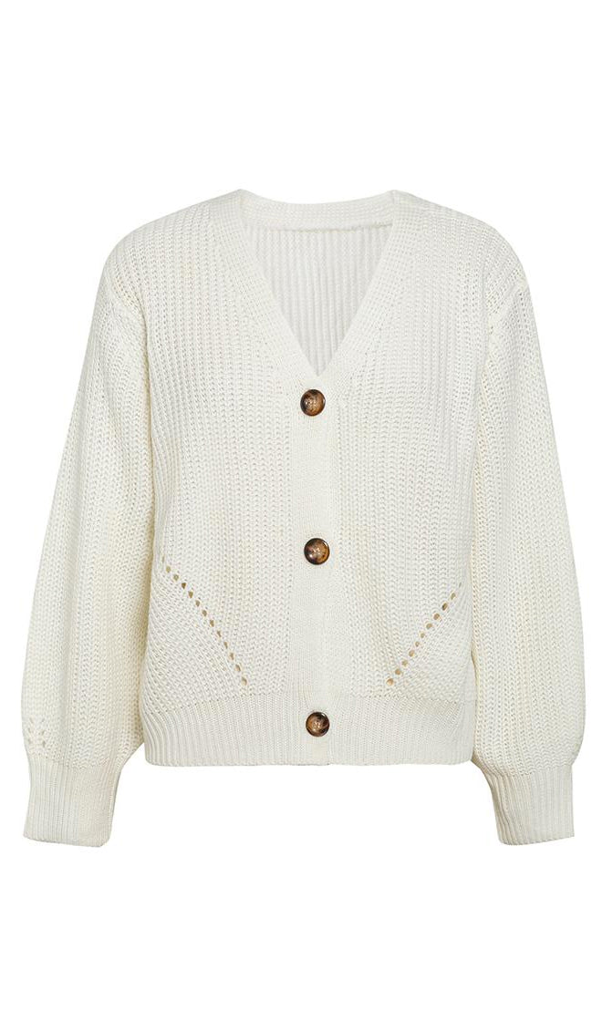 Chill In The Air Long Batwing Sleeve Loose Button Cardigan Sweater - 2 Colors Available