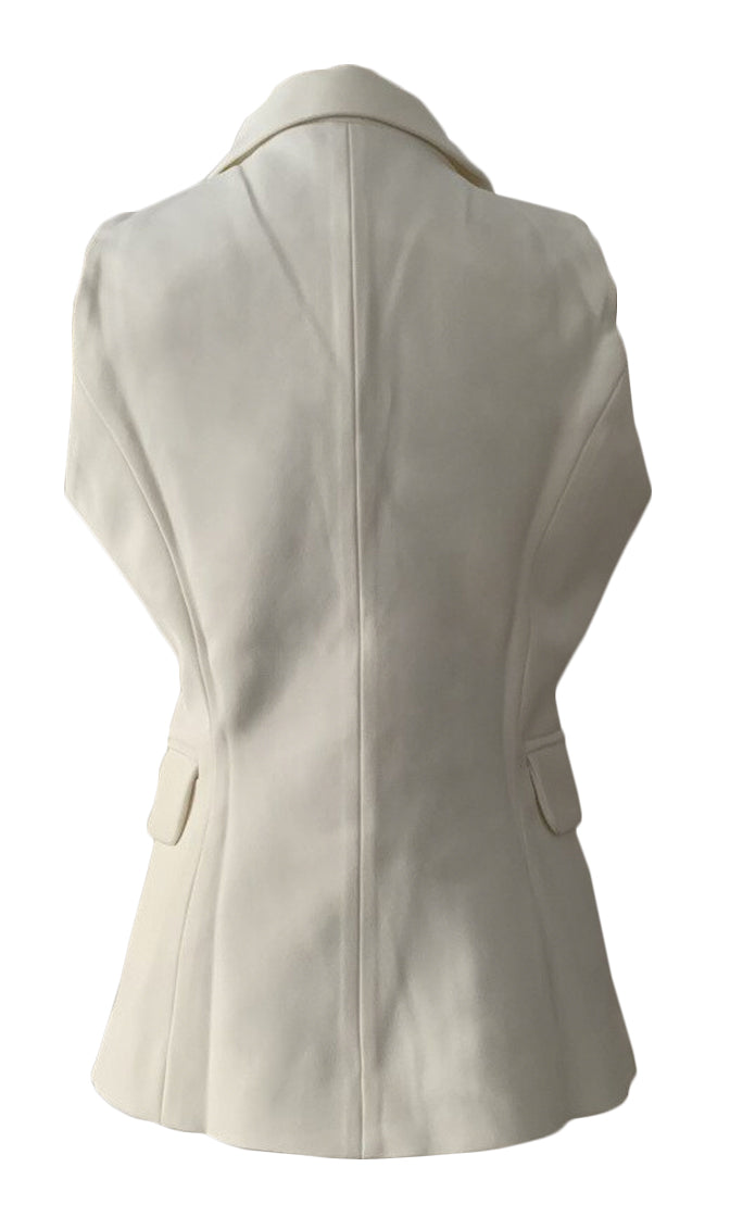 My Own Boss Sleeveless V Neck Lapel Button Blazer Vest Jacket Outerwear - 2 Colors Available