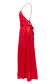 You Owe Me Casual Sleeveless Spaghetti Strap Backless Halter Cut Out Split Maxi Dress - 3 Colors Available