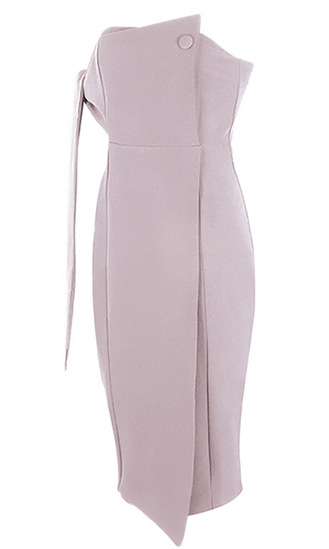 Searching For You Strapless One Shoulder Tie Bodycon Mini Dress - 4 Colors Available