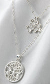 Finishing Touch Double Chain Multi-layer Floral Pendant Tree Of Life Necklace - 2 Colors Available - Sold Out
