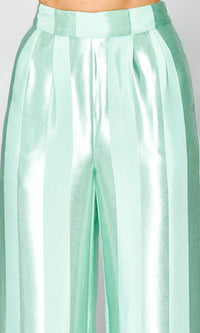 Featured Attraction Satin Vertical Stripe Pattern Wide Leg Loose Palazzo Pants - 3 Colors Available - Sold Out