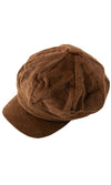 Peak Perfection Corduroy Panel Short Brim Beret Hat - 5 Colors Available - Sold Out