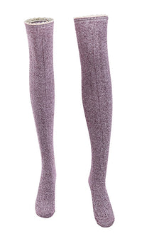 Secret Spot Knit Over The Knee Lace Trim Socks - Sold Out