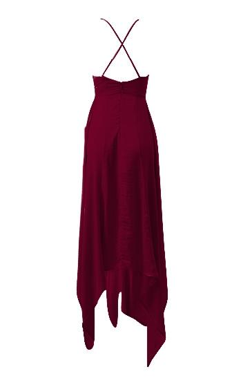 Breaking Promises Spaghetti Strap Sleeveless V Neck High Low X Back Maxi Dress - 4 Colors Available