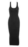 In The Hills Sleeveless Scoop Neck Bodycon Midi Dress - 4 Colors Available - Sold Out