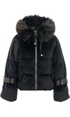 Down For Anything Long Belted Sleeve Faux Fur Hood Thick Winter Coat Outerwear - 4 Colors Available - Sold Out