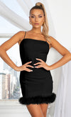 By My Side Black One Long Sleeve Slash Neck Cut Out Asymmetric Stretchy Bodycon Mini Dress