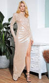 Fine Wine Black Glitter Metallic Stretch Lurex Sleeveless Bustier V Neck Bodycon Maxi Dress