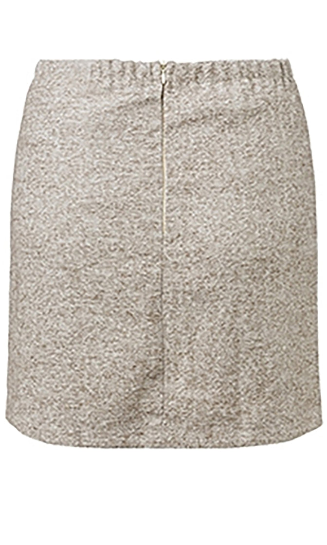Monday To Friday Button Front Asymmetric High Waist Pencil Mini Skirt - 2 Colors Available