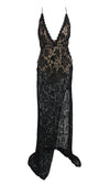 French Riviera Tie Shoulder Black Spaghetti Strap Beige White Ruched Lace Ruffle Mini Bodycon Dress