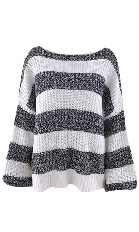Wishing For Peace Long Sleeve Chunky Fold Over Fringe Pattern Pullover Sweater - 3 Colors Available