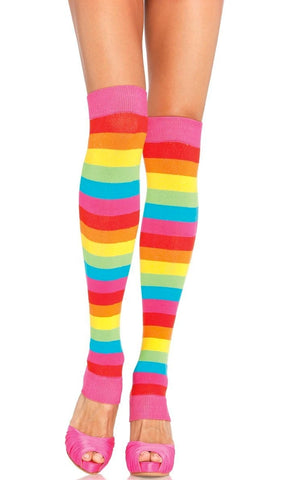 Walk Through Wonderland Black White Stripe Pattern Optical Illusion Tights Stockings Hosiery