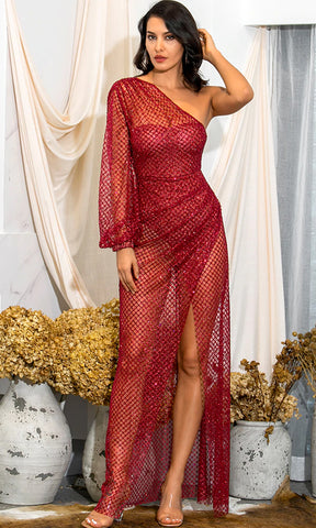 Live While We're Young Chamnpagne Sequin Sleeveless Spaghetti Strap Plunge V Neck Bodycon Wrap Tulip Hem Mini Dress - 2 Colors Available