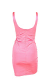 OG Baddie Bright Pink Sleeveless Thin Strap Sleeveless Cut Out Bodycon Mini Dress