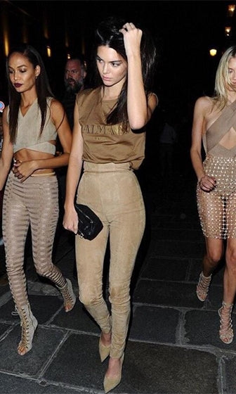 Pleasant Surprise Beige Faux Suede High Waist Skinny Pants - Inspired by Kendall Jenner - Sold Out