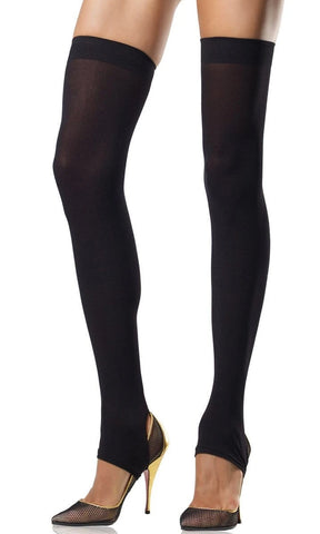 You Should Be Dancin' Black Fence Mesh Fishnet Footless Tights Stockings Hosiery