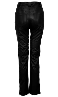 Have To Hustle PU Faux Leather High Waist Straight Leg Pants Trousers
