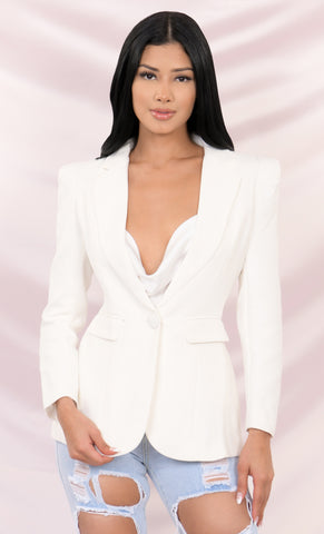 Solid Structure White Long Sleeve Double Breasted Button Tie Belt Midi Trench Coat Outerwear
