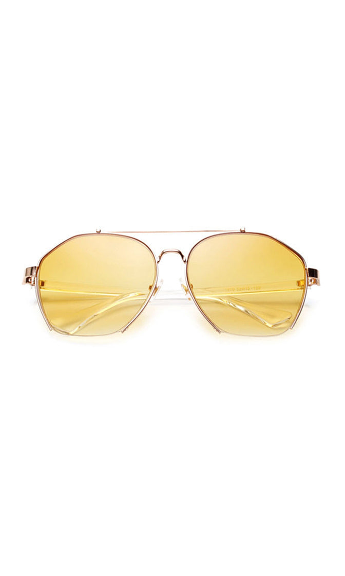 See The Signs Metal Aviator Semi Rimless Sunglasses - 5 Colors Available