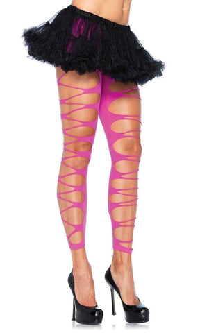 Brave Beauty Silver Iridescent Stud Cut Out Shin Guards Hosiery
