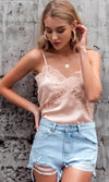 Come Fly With Me Long Lantern Sleeve Lace Trim V Neck Button Crop Top Blouse - 2 Colors Available