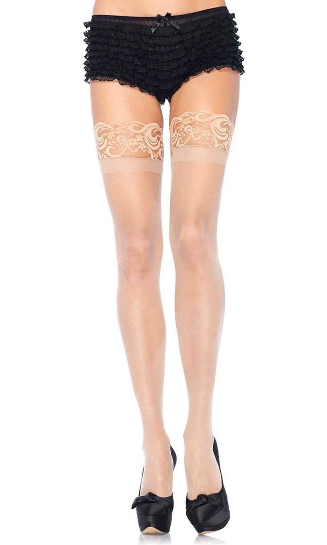 Fifty Shades Sheer Lace Thigh High Stockings Tights Hosiery - 4 Colors Available