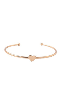 On Your Mark Metal Multi Layer Heart Bangle Cuff Bracelet Set - 2 Styles Available - Sold Out