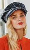 French Poetry Velvet Paneled Beret Hat - 2 Colors Available - Sold Out