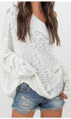 Rumors Are Spreading Long Batwing Sleeve Off The Shoulder Loose Slouchy Pattern Pullover Sweater - Sold Out