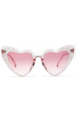 Hearts Are Pounding Plastic Heart Shaped Cat Eye Sunglasses - 5 Colors Available