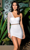 Party In Ibiza Sleeveless Plunge V Neck Belted One Piece Swimsuit - 7 Colors Available