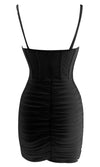 Around The Town Black Sleeveless Bustier Ruched Bodycon Mini Dress - 3 Colors Available