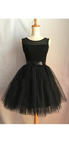 Dark Angel Layer Black Tulle Chiffon Elastic Waist Pleated Circle A Line Flare Mini Skirt