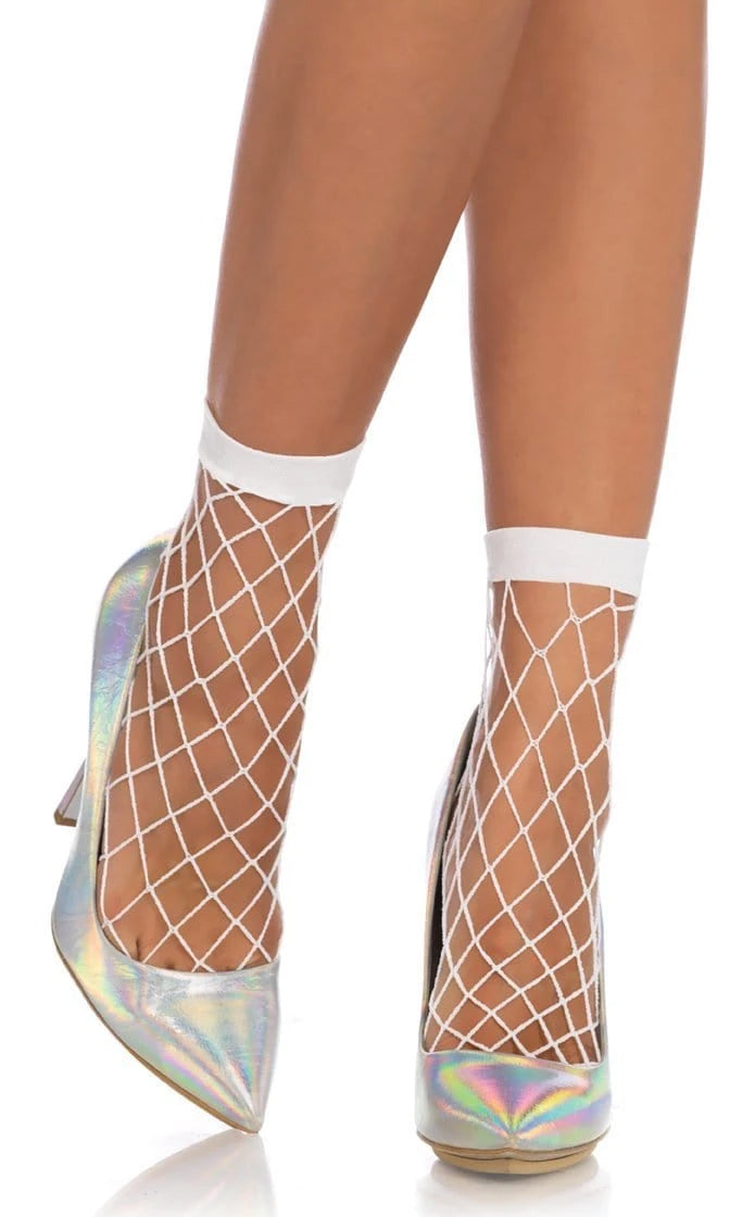 Wicked Ideas Diamond Fishnet Mesh Anklet Socks - 2 Colors Available