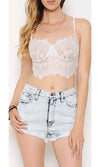 Under Your Spell Sheer Mesh Lace Sleeveless Chiffon Bow Neck Blouse Top - 2 Colors Available