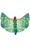 Taking Flight Green Peacock Feather Pattern Wings