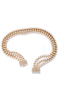 Extravagant Attitude Gold Faux Pearl Rhinestone Belt - Sold Out