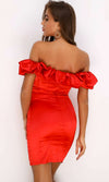 Enjoy The View Black Off the Shoulder Big Ruffle Bodycon Strapless Mini Dress - 3 Colors Available